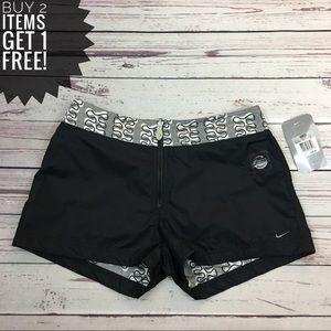 Nike Black & Grey Reversible Swim Shorts NWT